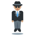 Man in Suit Levitating: Medium Skin Tone on Twitter Twemoji 11.2