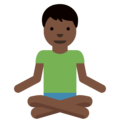Man in Lotus Position: Dark Skin Tone on Twitter Twemoji 11.2