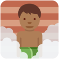 Man in Steamy Room: Medium-Dark Skin Tone on Twitter Twemoji 11.2