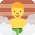 Man in Steamy Room on Twitter Twemoji 11.2