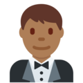 Man in Tuxedo: Medium-Dark Skin Tone on Twitter Twemoji 11.2
