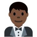 Man in Tuxedo: Dark Skin Tone on Twitter Twemoji 11.2