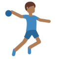 Man Playing Handball: Medium-Dark Skin Tone on Twitter Twemoji 11.2
