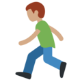 Man Running: Medium Skin Tone on Twitter Twemoji 11.2