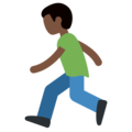 Man Running: Dark Skin Tone on Twitter Twemoji 11.2