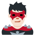 Man Supervillain: Light Skin Tone on Twitter Twemoji 11.2