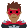 Man Supervillain: Medium-Dark Skin Tone on Twitter Twemoji 11.2