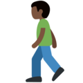 Man Walking: Dark Skin Tone on Twitter Twemoji 11.2