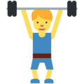 Man Lifting Weights on Twitter Twemoji 11.2