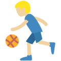 Man Bouncing Ball: Medium-Light Skin Tone on Twitter Twemoji 11.2