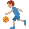 Man Bouncing Ball: Medium Skin Tone on Twitter Twemoji 11.2