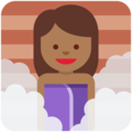 Person in Steamy Room: Medium-Dark Skin Tone on Twitter Twemoji 11.2