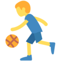 Person Bouncing Ball on Twitter Twemoji 11.2