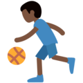 Person Bouncing Ball: Dark Skin Tone on Twitter Twemoji 11.2