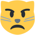 Pouting Cat Face on Twitter Twemoji 11.2