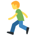 Person Running on Twitter Twemoji 11.2