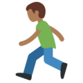Person Running: Medium-Dark Skin Tone on Twitter Twemoji 11.2