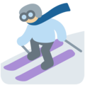 Skier, Type-3 on Twitter Twemoji 11.2