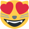 Smiling Cat Face With Heart-Eyes on Twitter Twemoji 11.2