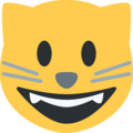 Grinning Cat Face on Twitter Twemoji 11.2