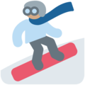 Snowboarder: Medium Skin Tone on Twitter Twemoji 11.2
