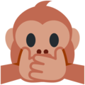 Speak-No-Evil Monkey on Twitter Twemoji 11.2