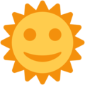 Sun With Face on Twitter Twemoji 11.2