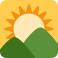 Sunrise Over Mountains on Twitter Twemoji 11.2