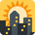 Sunset on Twitter Twemoji 11.2