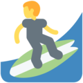 Person Surfing on Twitter Twemoji 11.2