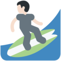 Person Surfing: Light Skin Tone on Twitter Twemoji 11.2