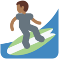 Person Surfing: Medium-Dark Skin Tone on Twitter Twemoji 11.2