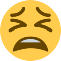 Tired Face on Twitter Twemoji 11.2