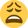 Weary Face on Twitter Twemoji 11.2
