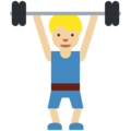 Person Lifting Weights: Medium-Light Skin Tone on Twitter Twemoji 11.2