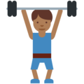 Person Lifting Weights: Medium-Dark Skin Tone on Twitter Twemoji 11.2
