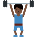 Person Lifting Weights: Dark Skin Tone on Twitter Twemoji 11.2