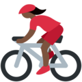 Woman Biking: Dark Skin Tone on Twitter Twemoji 11.2