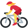 Woman Biking on Twitter Twemoji 11.2