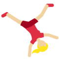 Woman Cartwheeling: Medium-Light Skin Tone on Twitter Twemoji 11.2