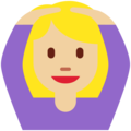 Woman Gesturing OK: Medium-Light Skin Tone on Twitter Twemoji 11.2