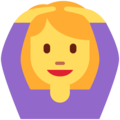 Woman Gesturing OK on Twitter Twemoji 11.2
