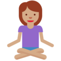 Woman in Lotus Position: Medium Skin Tone on Twitter Twemoji 11.2