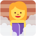 Woman in Steamy Room on Twitter Twemoji 11.2