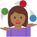 Woman Juggling: Medium-Dark Skin Tone on Twitter Twemoji 11.2