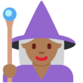 Woman Mage: Medium-Dark Skin Tone on Twitter Twemoji 11.2
