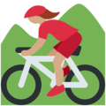 Woman Mountain Biking: Medium Skin Tone on Twitter Twemoji 11.2