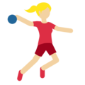 Woman Playing Handball: Medium-Light Skin Tone on Twitter Twemoji 11.2