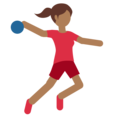 Woman Playing Handball: Medium-Dark Skin Tone on Twitter Twemoji 11.2