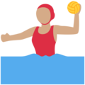 Woman Playing Water Polo: Medium Skin Tone on Twitter Twemoji 11.2